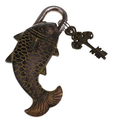 Imagen 1 de 9 de Bloqueo De Pescado Bronce 17cm