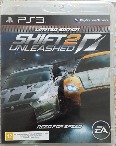 Jogo Ps3 Need For Speed - Shift 2 Unleashed Limited Edition