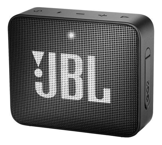 Caixa de som JBL Go 2 portátil sem fio Midnight black