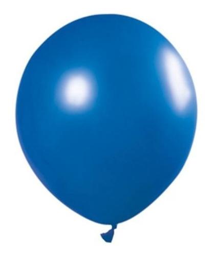 Globos Perlado Azul Eléctrico 12 Pulgadas X 50 U Decoración