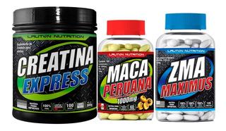 Kit Maca Peruana 60 Cáps + Zma + Creatina 100g - Lauton