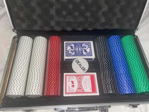 300 Fichas Poker Maletin Lujo Blackjack Azar Casino Dados