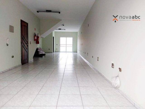 Salão Para Alugar, 96 M² Por R$ 2.500/mês - Jardim Las Vegas - Santo André/sp - Sl0208