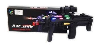 Arma De Combate Ak-828. Con Mira Laser , Vibraciones Y Sonid