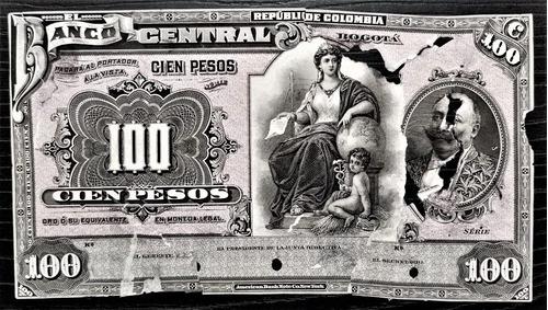 Prueba Unifaz 100 Pesos Oro 03/ago/1907 Banco Central Vg