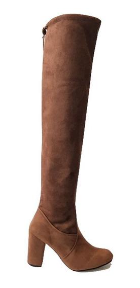 Botas Largas Dama Mujer Altas Licra, Lycra Tacón 9cm