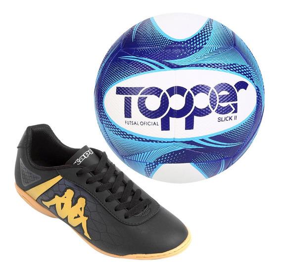 Chuteira Futsal + Bola Topper Futsal Frete Grátis