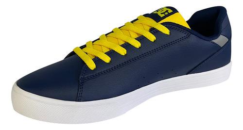 Imagen 1 de 6 de Tenis Hombre Skate Urbano Textil Azul Amarillo Dc Shoes