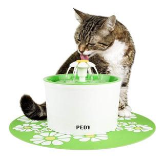 Fuente Agua Para Gatos - Pedy 1.6 Litros Sin Bpa + Tapete