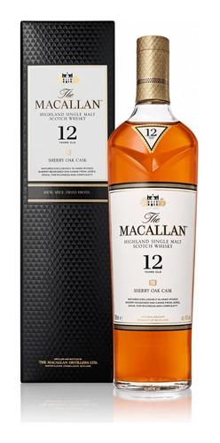 Imagen 1 de 7 de Estuche Whisky The Macallan Sherry Oak 12 Años X700cc