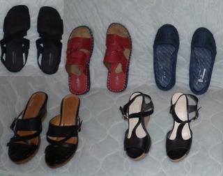 Lote De Zapatos, Sandalias, Tacones, Plataformas.
