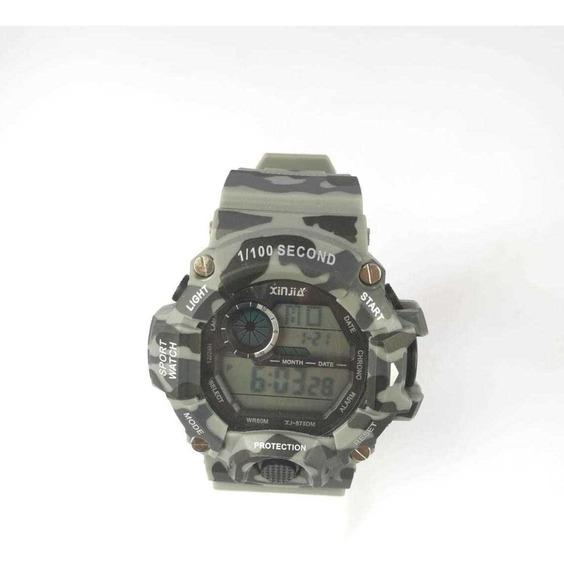 Relógio Masculino Preto C/ Dourado Xj-875d Frete Gratis