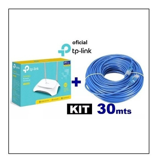 Kit Roteador Wi-fi Tp-link Tl-wr849n + 30 Mts Cabo Rede +nfe