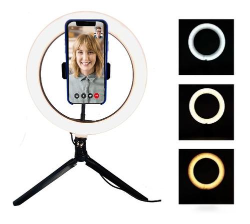 Aro Luz Led Con Tripode Para Selfie, Zoom, Instagram