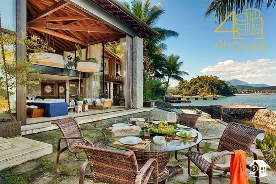 Angra Dos Reis / Ilha Do Jorge - Casa Cinematográfica Terreno 3.000m² Ac 1.200m² 07 Suítes Para Venda. - Ca0347