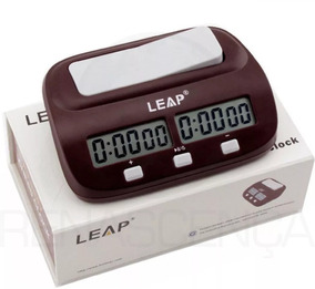 Relógio De Xadrez Leap Digital Super Compacto Jogo Oficial