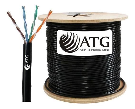 Cable Utp 100% Cobre Atg Cat5e Exterior Redes Cctv