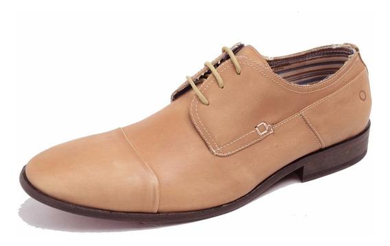 Zapato De Cuero Democrata Hombre Ventura Acordonado 076101