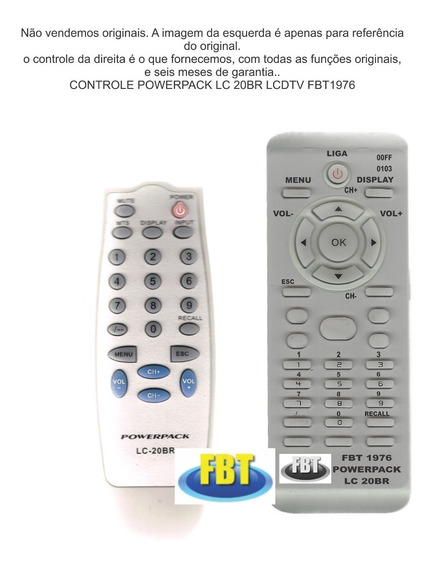 Controle Powerpack Lcd Lc-20br 15br 14br Fbt1976
