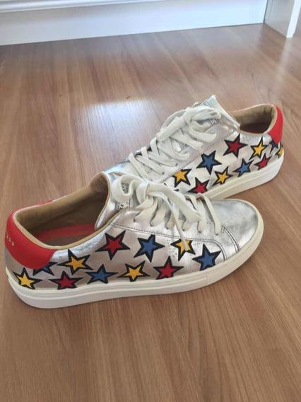 Tênis Feminino Skechers Estrelas Original Usado