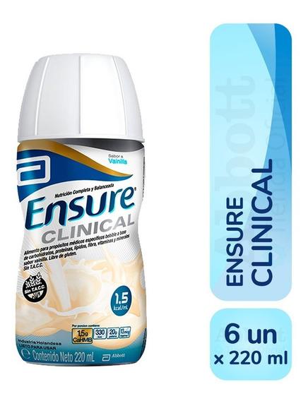 Ensure Clinical Liquido 220 Ml X 6 Unidades Vainilla