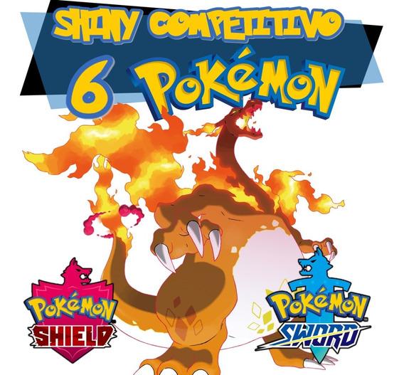 6 Pokemon Shiny Sword Shield Espada Escudo 6iv Competitivos