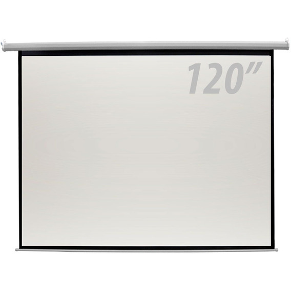 Tela De Projeção 120 Polegadas Elétrica Controle Remoto Csr