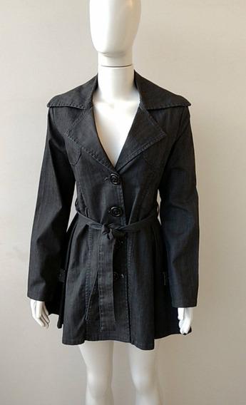 Casaco Trench Coat Jeans Feminino - Puramania -tam: M