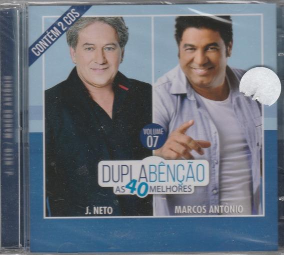 J Neto & Marcos Antonio - Cd Dupla Benção 40 Melhores 2 Cds