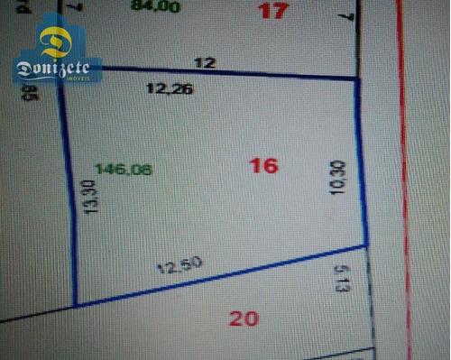 Terreno À Venda, 146 M² Por R$ 213.000,00 - Vila América - Santo André/sp - Te0568