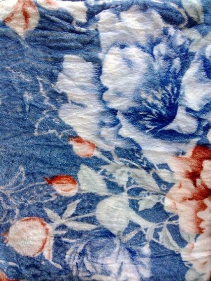 Cobertor Dyuri Estampado Azul Floral