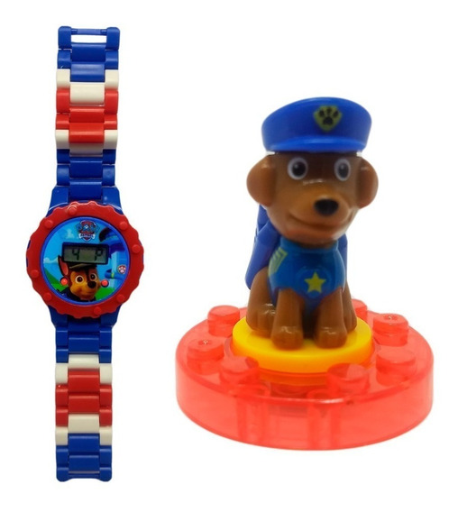 Relógio Digital Infantil Patrulha Canina Lego Chase