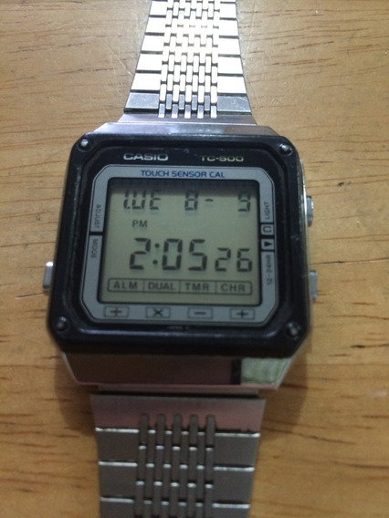 Reloj Casio Tc 500 Tc-500 Calculadora Digital Touch 1984