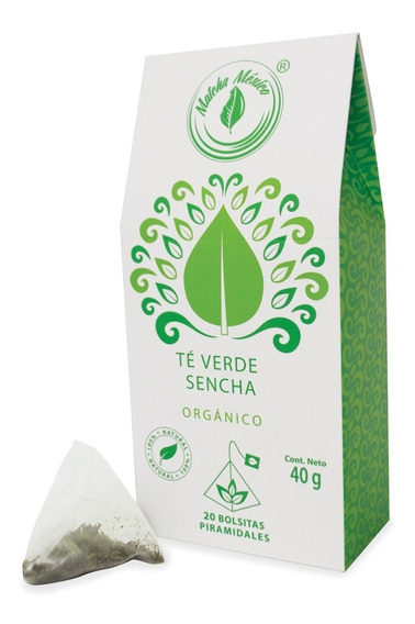 Té Verde Orgánico Sencha - 20 Bolsitas Individuales