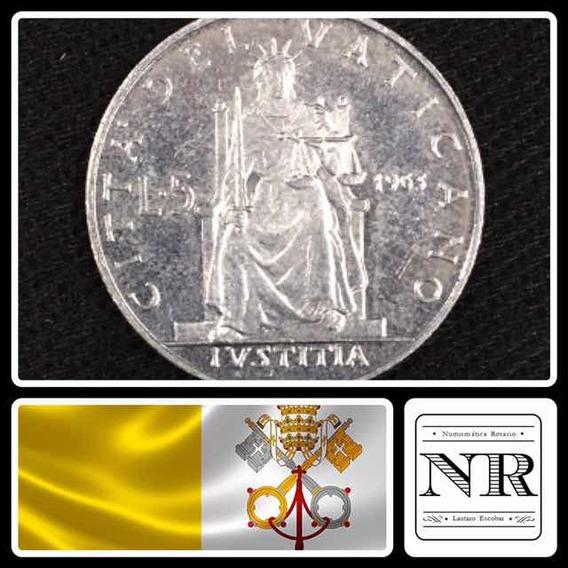 Vaticano - 5 Liras - Año 1963 - Papa Pablo Vi - Km# 78.1