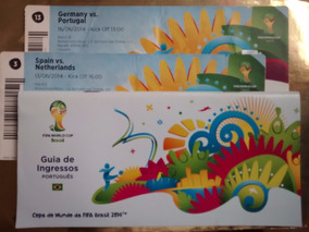 02 Ingressos +guia Copa 2014 Germany Portugal Spain Souvenir