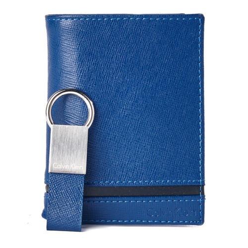 Billetera Calvin Klein Azul Para Caballero