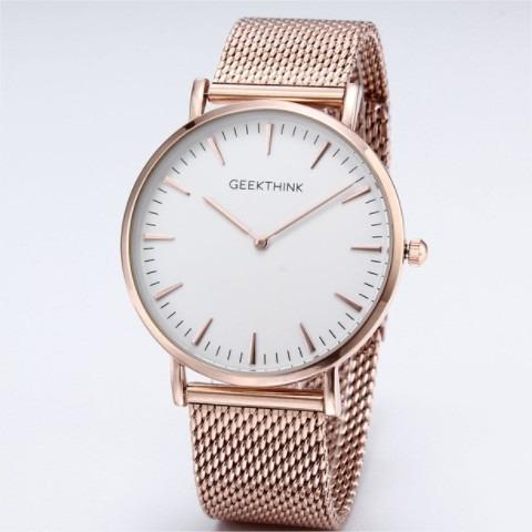 Relógio De Pulso Geekthink Quartzo Rosê