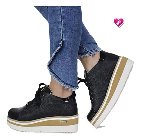 Zapatilla Mujer Moda Plataforma Sneakers De Shoes Bayres Con