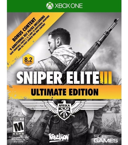 Sniper Elite 3 Ultimate Edit Mídia Física Xbox One Lacrado