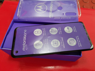 Motorola Moto One Action 128gb Azul Denim Câm Tripla Lindo Funções Exclusivas! Nf E Garantia!