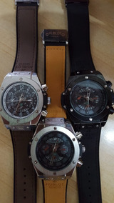 Relógios Luxo Caixa Aço - Pesado - Três Modelos Disponíveis