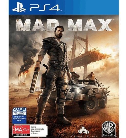Jogo Mad Max - Ps4 - Mídia Física