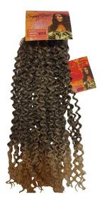 Cabelo Orgânico Mega Hair Cacheado Aplique 55cm 100g