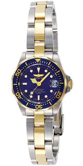 Invicta Mujer 8942 Pro Diver Reloj Acero Inoxidable Azul Msi