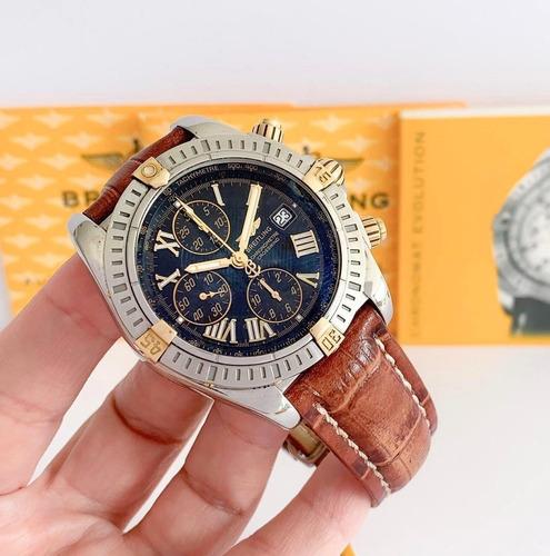 Breitling Chronomat Evolution Ouro & Aço 44mm Completo