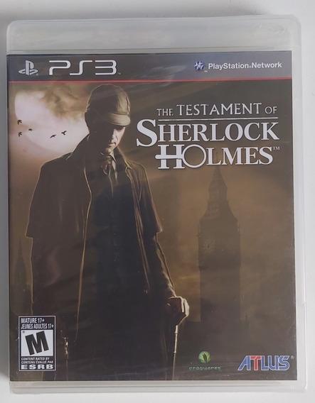 The Testament Of Sherlock Holmes - Ps3 - Físico - Lacrado