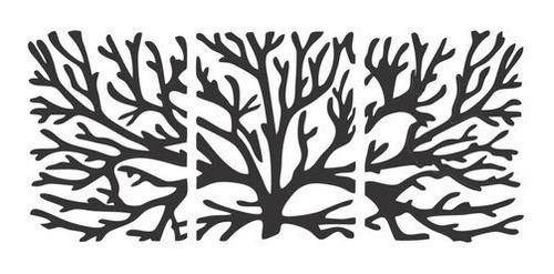 Imagem 1 de 3 de Quadro Decorativo Arvore Abstrato Em Mdf Preto - Promoção