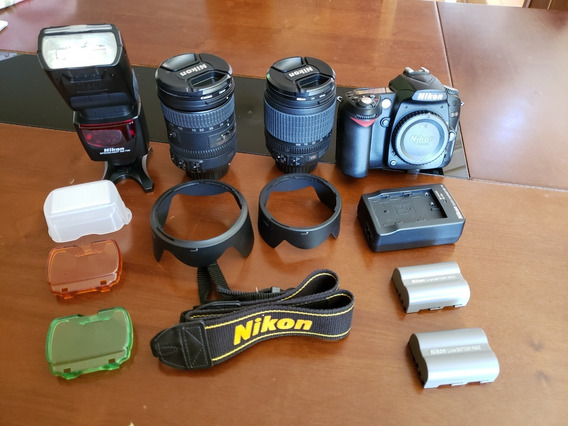 Câmera Nikon D90+lente 18-200mm/18-105mm + Flash Sb 700