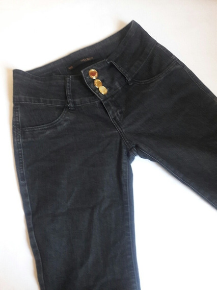 Calça Jeans Feminina Flare Preta Lança Perfume 38